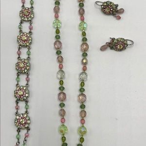Jewelry - Beaded Floral 3 piece Set